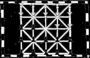 : Fig.1 disposition initiale d'après le folio 91v du Livre des Jeux d'Alphonse X