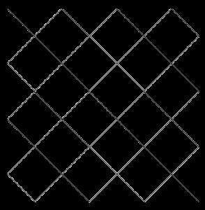 Réseau de lignes diagonales équivalent à l'utilisation d'une seule couleur des cases de l'échiquier. Aisling-1198