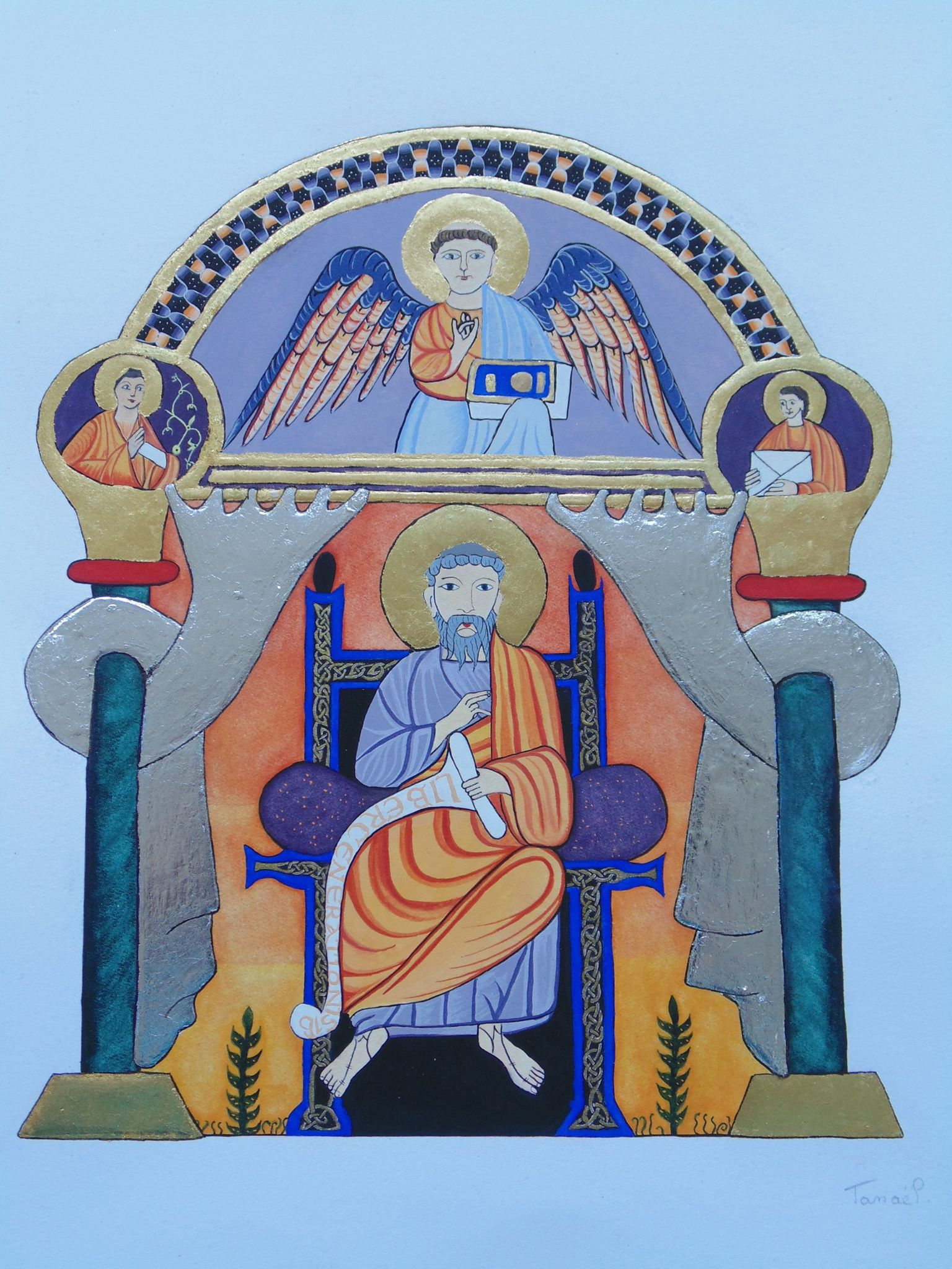 St Matthieu Codex aureus 2 Blanche